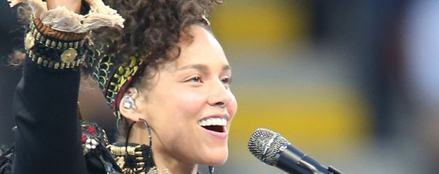 Alicia Keys beim Champions-League-Finale