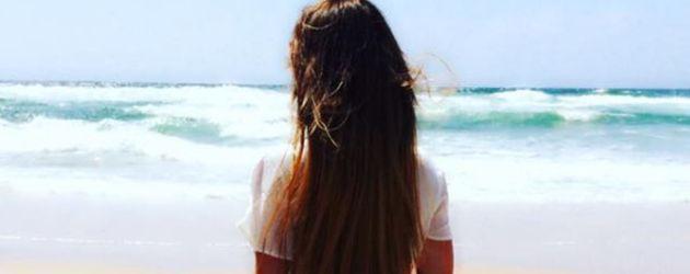 Angelina Heger im Urlaub