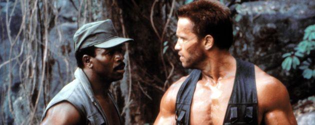 """Carl Weathers (l.) und Arnold Schwarzenegger in """"Predator"""""""