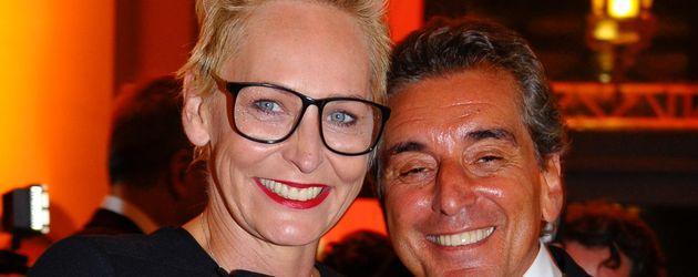 Bärbel Schäfer und Michel Friedmann bei der Verleihung des 25. Hessischen Film- und Kinopreises in F