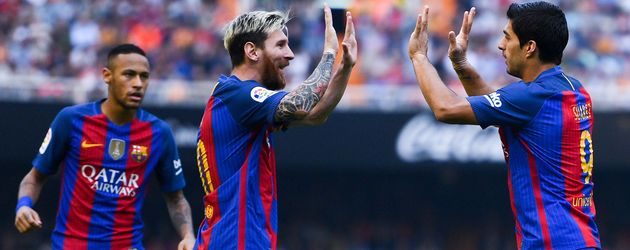 Barcas Wundersturm: Neymar, Lionel Messi und Luis Suarez (v.l.n.r.)