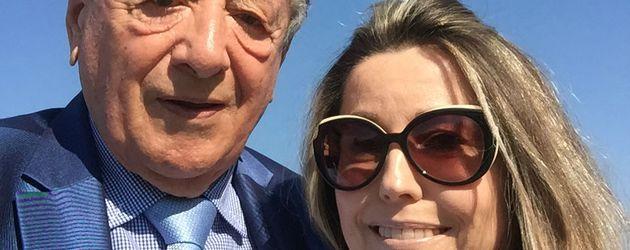 Bauunternehmer Richard Lugner mit seiner neuen Freundin Andrea