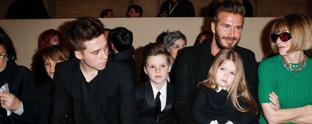 David Beckham, Brooklyn Beckham, Romeo Beckham, Harper Seven Beckham und Cruz Beckham
