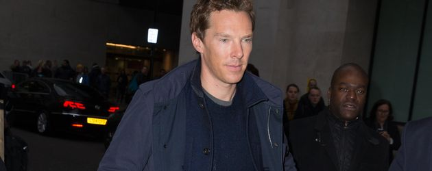 Benedict Cumberbatch auf dem Weg zu den BBC Studios in London