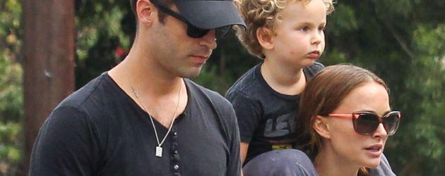 Benjamin Millepied und Natalie Portman mit Söhnchen Aleph