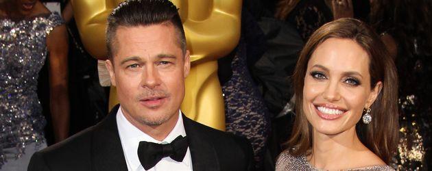 Brad Pitt und Angelina Jolie bei den Oscars im Jahr 2014