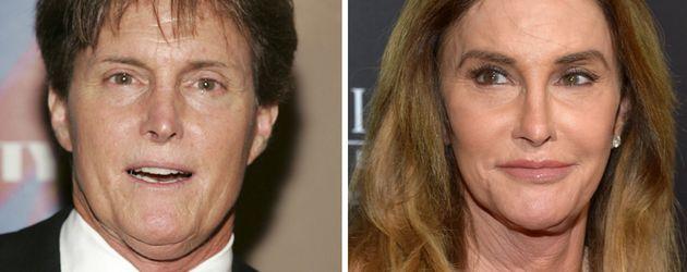 Bruce und Caitlyn Jenner, 2007 und 2016