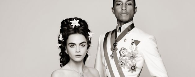 Cara Delevingne und Pharrell Williams