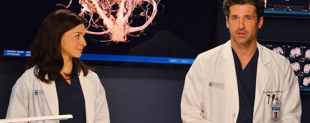 "Caterina Scorsone und Patrick Dempsey in ""Grey's Anatomy"""