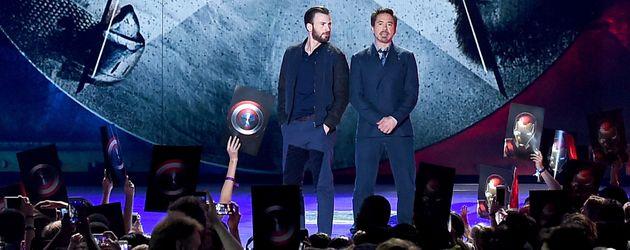 Robert Downey Junior und Chris Evans