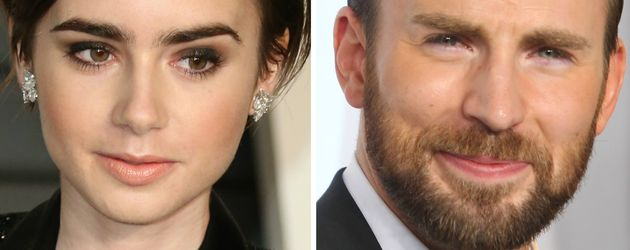 Lily Collins und Chris Evans