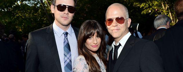 Cory Monteith, Lea Michele und Regisseur Ryan Murphy beim Butterfly Ball 2012