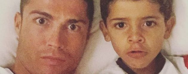 Cristiano Ronaldo und Cristiano Ronaldo Jr.