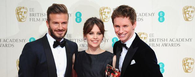 David Beckham, Eddie Redmayne und Felicity Jones