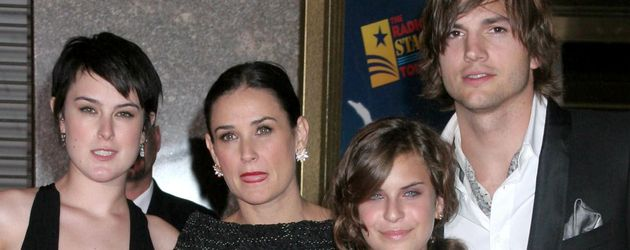 Ashton Kutcher, Rumer Willis, Demi Moore und Tallulah Willis