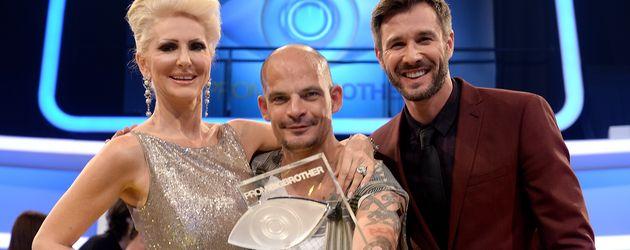 """Desiree Nick, Ben Tewaag und Jochen Schropp beim Finale von """"Promi Big Brother"""""""