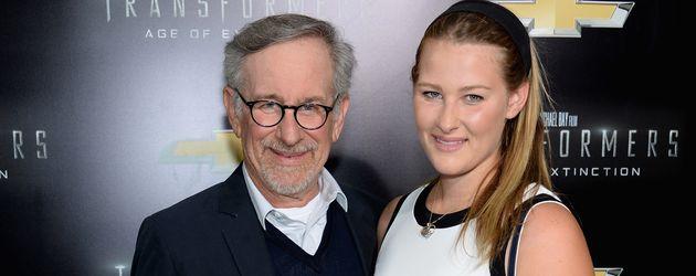 Steven und Destry Allyn Spielberg 2014 bei einer Filmpremiere in New York