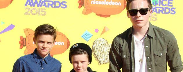 Brooklyn Beckham, Romeo Beckham und Cruz Beckham