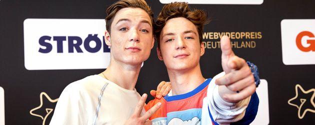 Roman und Heiko Lochmann bei der Verleihung des 6. Webvideopreis in 2016 Düsseldorf