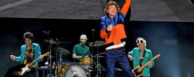 Die Roling Stones auf der Bühne in Indio, Kalifornien