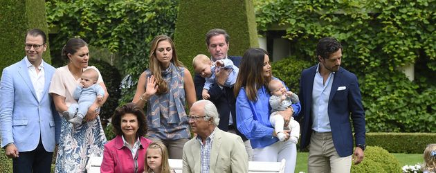 Fototermin der Schweden-Royals auf Schloss Solliden, Juli 2016