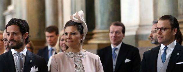 Prinz Carl Philip von Schweden, Prinzessin Victoria von Schweden und Prinz Daniel von Schweden