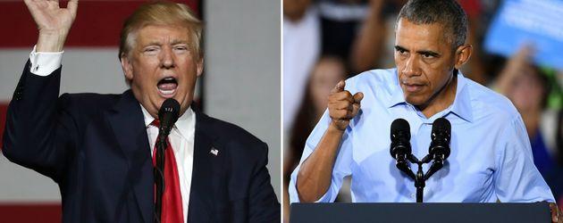 Donald Trump und Barack Obama