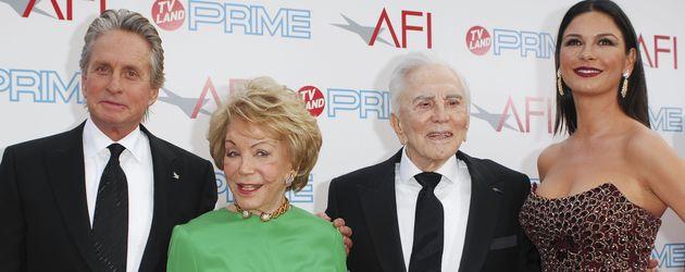Michael Douglas, Catherine Zeta-Jones und Kirk Douglas