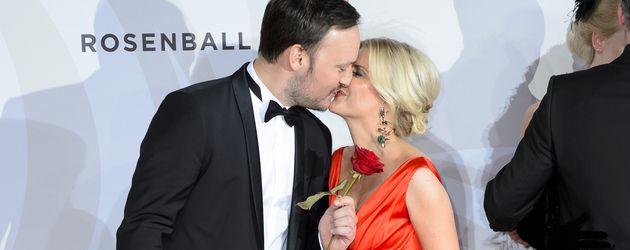 Felix Moese und Jennifer Knäble beim Rosenball 2016 im Hotel InterContinental in Berlin