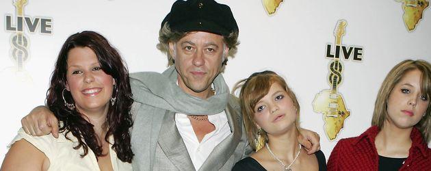 Peaches Geldof, Bob Geldof, Fifi Trixibelle Geldof und Pixie Geldof