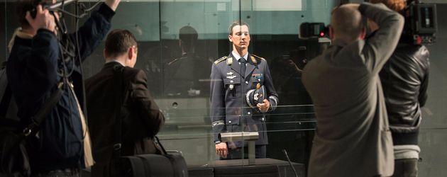 "Florian David Fitz als angeklagter Pilot ""Lars Koch"" im ARD-Film ""Terror"""