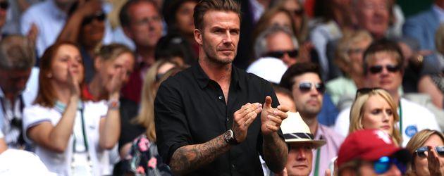Fußball-Star David Beckham bei den All England Championships in Wimbledon 2016