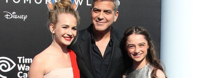 George Clooney, Raffey Cassidy und Britt Robertson