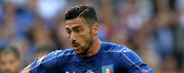 Graziano Pelle beim Spiel Italien gegen Spanien bei der EM 2016