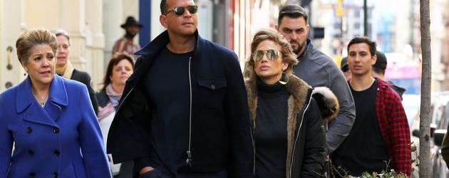 Guadalupe Rodriguez, Alex Rodriguez und Jennifer Lopez in New York