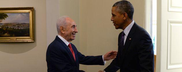 Shimon Peres und Barack Obama