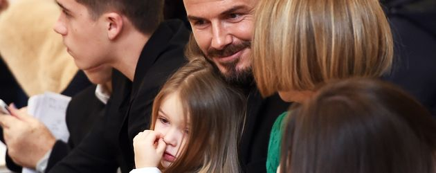 Harper Seven Beckham und David Beckham bei der NYFW