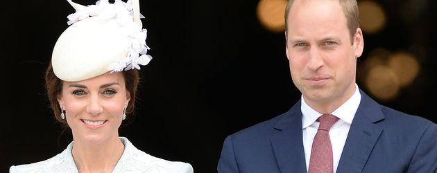 Herzogin Kate und Prinz William beim 90. Geburtstag der Queen