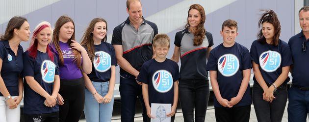 Herzogin Kate und Prinz William beim America's Cup World Series