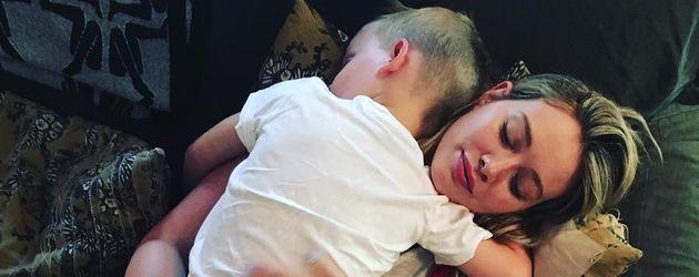 Hilary Duff mit ihrem Sohn Luca Cruz Comrie