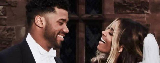 Hochzeitsbild von Sängerin Ciara und ihrem Ehemann Russell Wilson