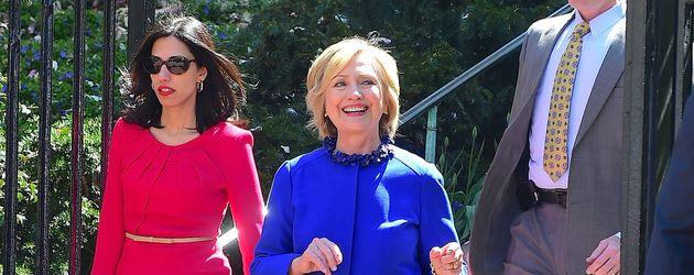 Huma Abedin und Hillary Clinton in New York