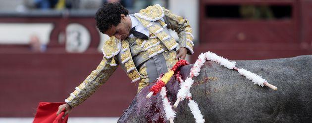 Ivan Fandiño bei einem Stierkampf in Madrid 2015