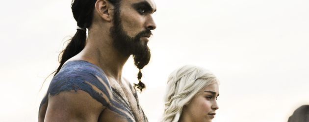 "Jason Momoa und Emilia Clarke in ""Game of Thrones"""