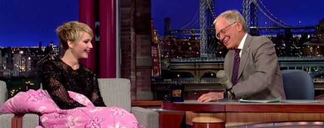 Jennifer Lawrence und David Letterman