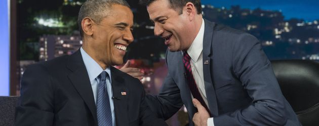 TV-Moderator Jimmy Kimmel und Barack Obama