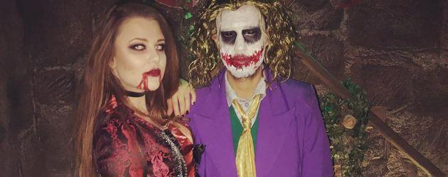 Joelina Drews und Marc Aurel Zeeb auf der Halloween-Party von Natascha Ochsenknecht