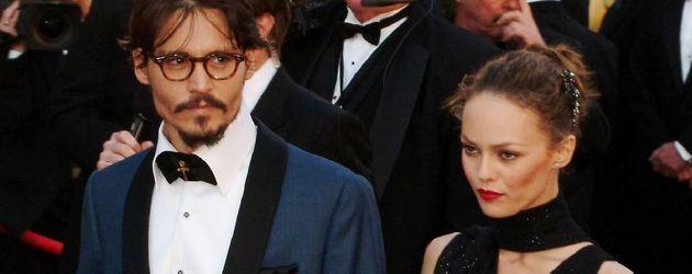 Johnny Depp und Vanessa Paradis auf dem Red Carpet