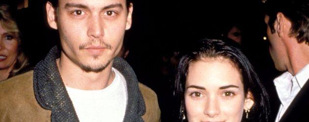 Johnny Depp und Winona Ryder Anfang der 1990er