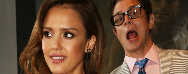 Jessica Alba und Johnny Knoxville